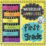 First Grade Nameplates