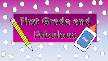 First Grade Website Banner