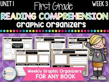 First Grade Weekly Reading Graphic Organizers (Unit 1, Week 3)