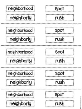 First Grade Weekly Vocabulary Cut and Paste
