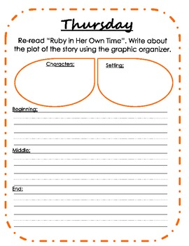 First Grade Weekly Writing Journals Unit 3