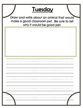 First Grade Weekly Writing Journals Unit 3 v.2011