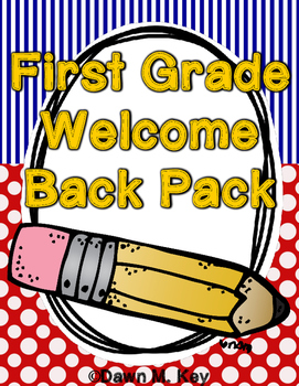 First Grade Welcome Back Pack