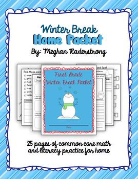 First Grade Winter Break Home Packet