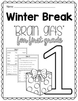 First Grade Winter Break Packet