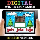Winter Digital CVCe Word Work for Google Classroom 2 - Dis