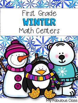 First Grade Winter Math Centers