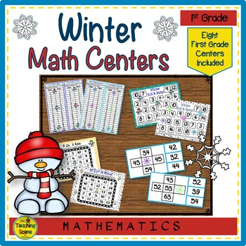 First Grade Winter Math Center Games