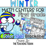 First Grade Winter Math Center Games and Activities