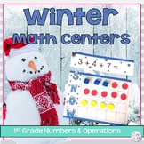 Winter Addition and Subtraction Math Centers