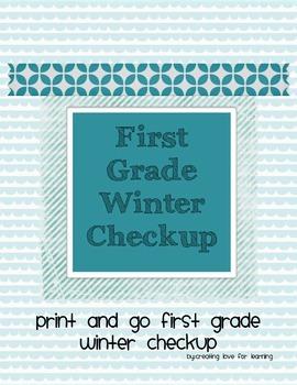 First Grade Winter Math Checkup