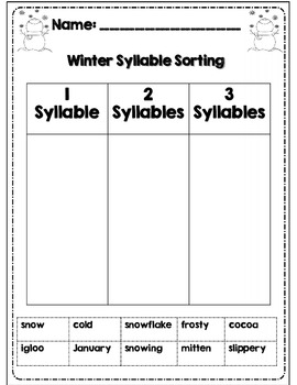 First Grade Winter Math & ELA Packet *Common Core Aligned*