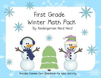First Grade Winter Math Pack