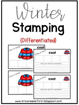 First Grade Winter Stamping