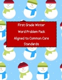 First Grade Winter Word Problem Pack - Aligned to Common Core