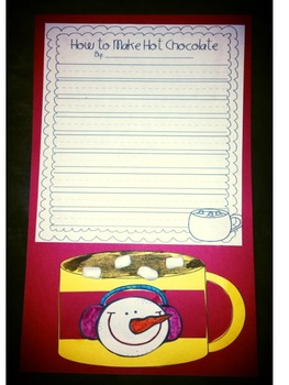 Winter Writing- persuasive letter, labeling activities & sequential writing