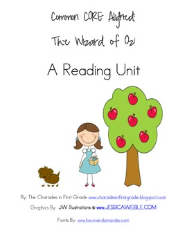 First Grade Wizard of Oz Reading/Writing Unit aligned with