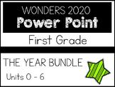 First Grade. Wonders 2020 Power Points. THE YEAR BUNDLE. U