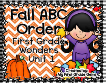 First Grade Wonders Differentiated ABC Order