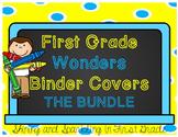 First Grade Wonders Binder Covers Bundle