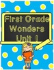 First Grade Wonders Binder Covers Start Smart and Unit 1