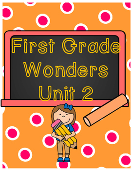 First Grade Wonders Binder Covers Unit 2