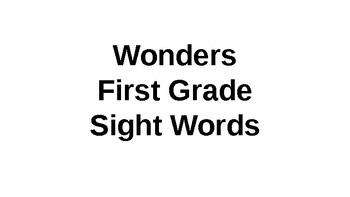 First Grade Wonders HFW Flashcard Powerpoint