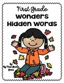 First Grade Wonders Hidden Words