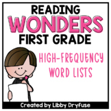 First Grade Wonders High-Frequency Word List