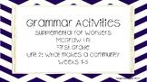 First Grade Wonders McGraw Hill Grammar Supplement