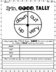 First Grade Wonders: Spin, Read, Tally Activities