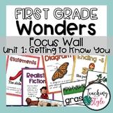 First Grade Wonders Unit 1 Focus Wall