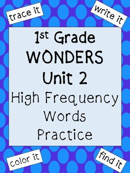 First Grade Unit 2: High Frequency Words Practice