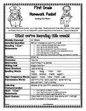 First Grade Wonders Unit 2 Week 1 Homework Packet