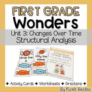 First Grade Wonders Unit 3 Structural Analysis Activities