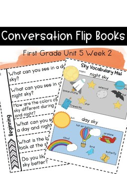 First Grade Wonders Unit 5 Week 2 Conversation Flip Books {ESL}