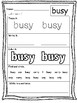 First Grade Unit 6: High Frequency Words Practice