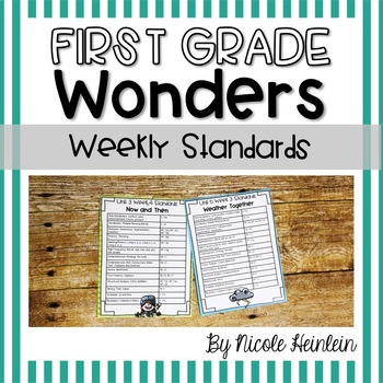 First Grade Wonders Weekly Standards