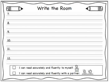 First Grade Wonders Write the Room - Unit 2 Week 2