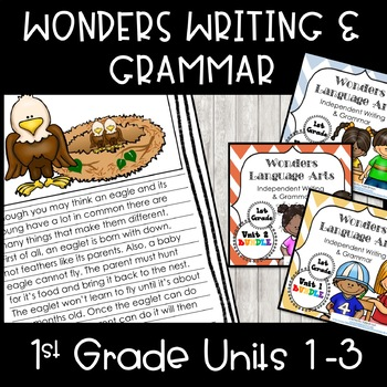 McGraw-Hill Wonders Writing: 1st grade Units 1-3 Bundle