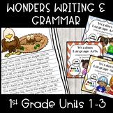 Wonders Writing 1st grade Units 1-3 Bundle