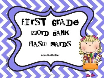 First Grade Word Bank