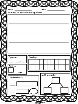 First Grade Word Problem Worksheet