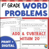 1st Grade Word Problems Addition and Subtraction Story Problems
