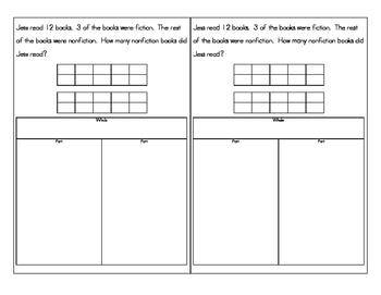 First Grade Word Problems