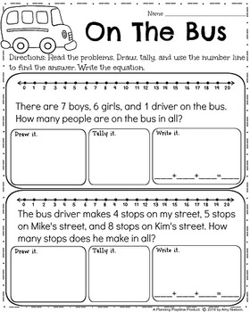 first grade word problems by planning playtime tpt. Black Bedroom Furniture Sets. Home Design Ideas