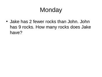 First Grade Word Problems #7