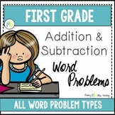 First Grade Word Problems - All Addition and Subtraction Word Problem Types