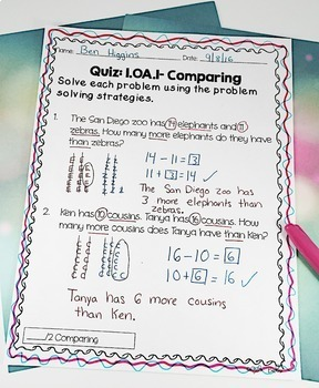 First Grade Word Problems Common Core 1.OA.1 & 1.0A.2