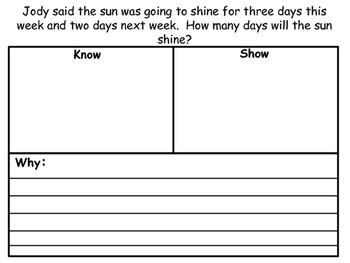 First Grade Word Problems for August and September
